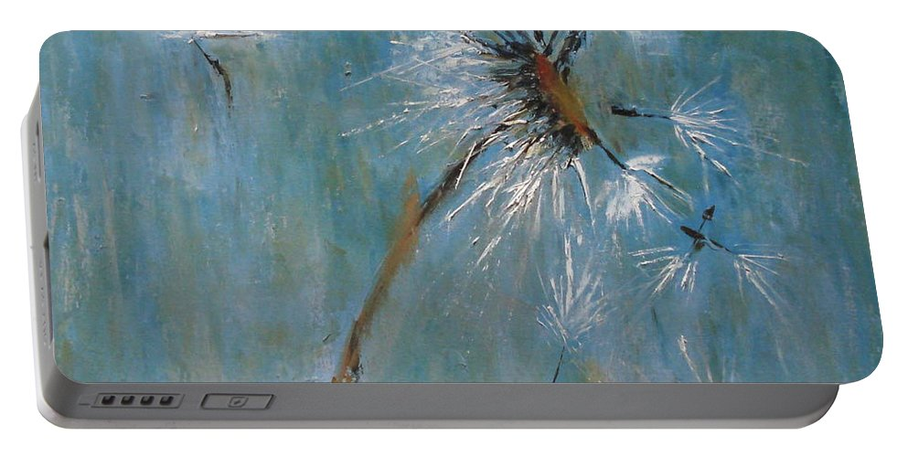 Landscape Portable Battery Charger featuring the painting Wishes by Barbara Andolsek