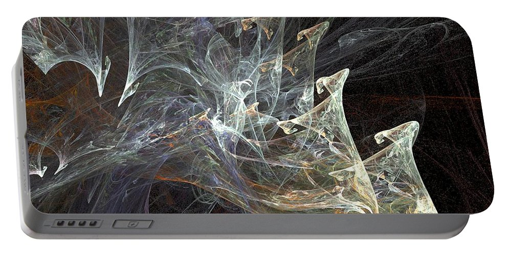 Smoke Portable Battery Charger featuring the digital art Wisps by Ron Bissett