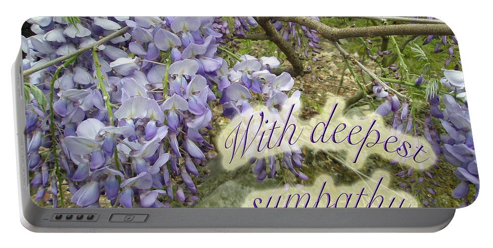 Wisteria Portable Battery Charger featuring the photograph Wisteria Sympathy Card by Mother Nature