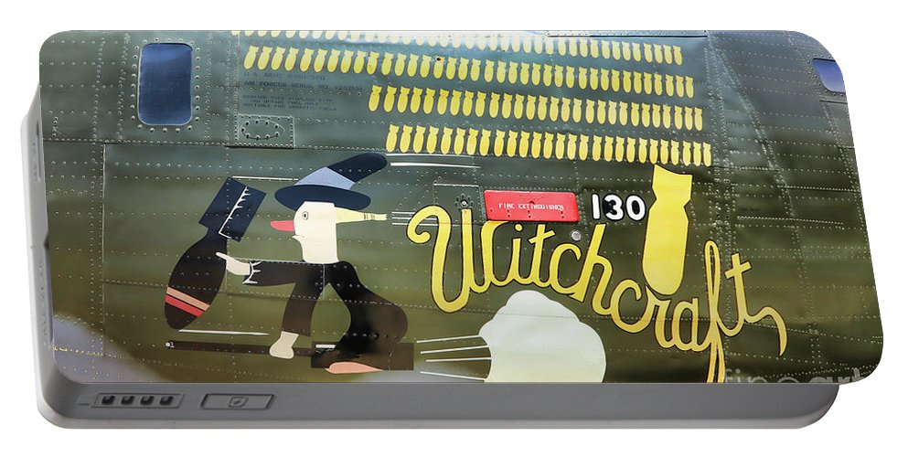 Wwii Portable Battery Charger featuring the photograph Witchcraft Bombs Away by Chuck Kuhn