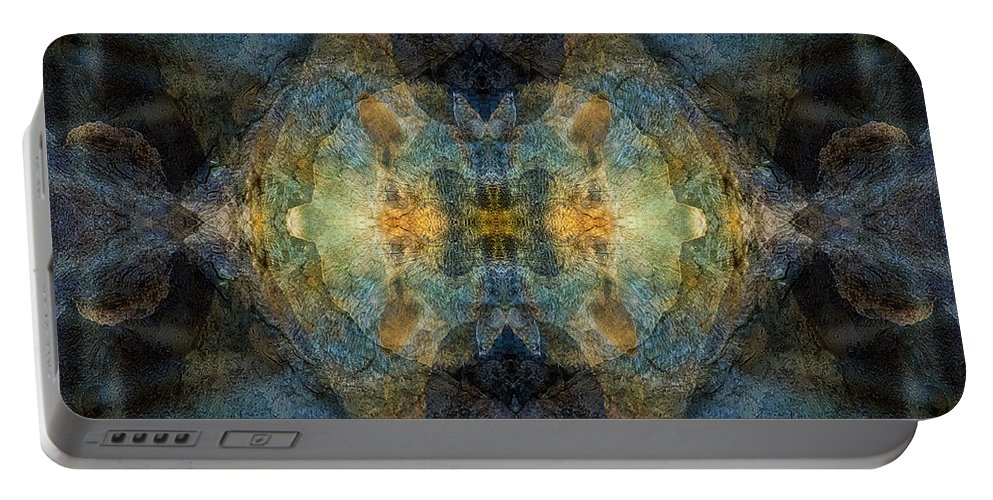 Psychedelic Portable Battery Charger featuring the digital art With Me by Deemarie Valenza