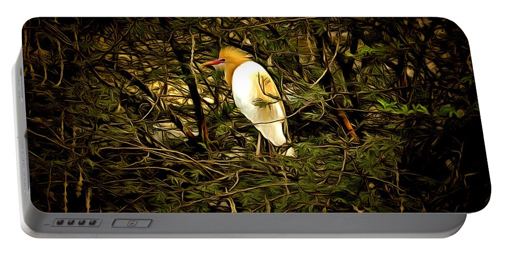 Bird Portable Battery Charger featuring the digital art Within Nature by Bliss Of Art