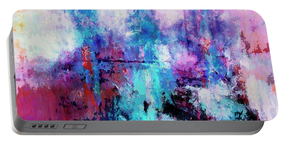Abstract Portable Battery Charger featuring the painting Witnesses by Dominic Piperata