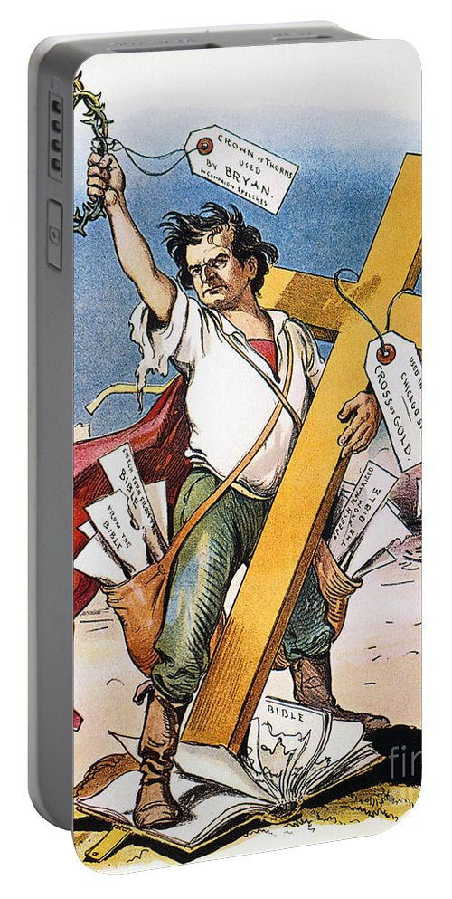 1896 Portable Battery Charger featuring the photograph W.j. Bryan: Cross Of Gold by Granger
