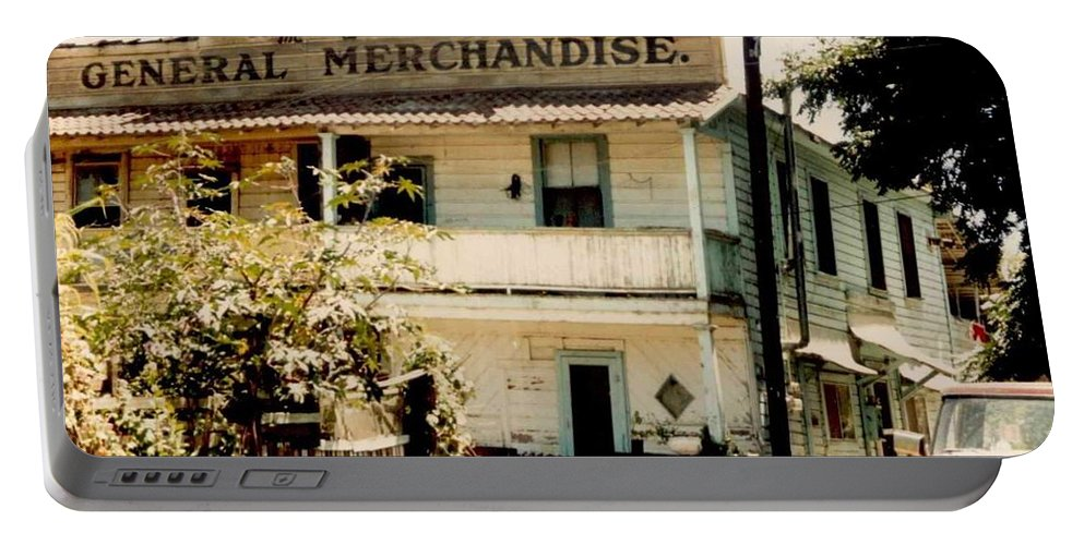 Mary Deal Portable Battery Charger featuring the photograph Wo Chong General Store Courtland Ca by Mary Deal