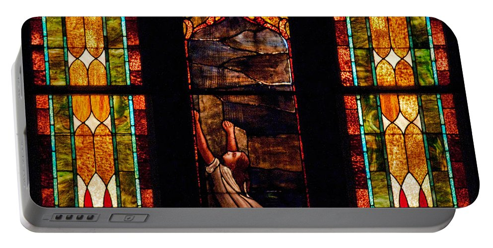 Woman Portable Battery Charger featuring the photograph Woman And The Cross by David Arment