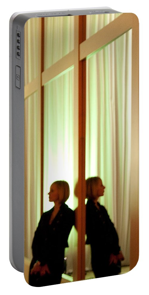 Woman Portable Battery Charger featuring the photograph Woman In Soft Light Reflected by Angus Hooper Iii