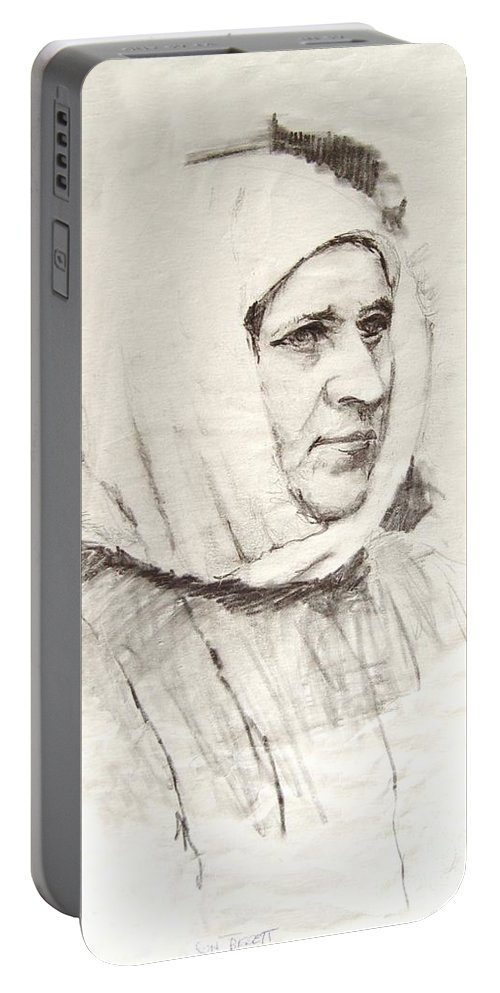 Ice Portable Battery Charger featuring the photograph Woman by Ron Bissett