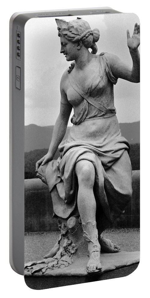 Figurative Portable Battery Charger featuring the photograph Woman Sculpture Nc by Eric Schiabor