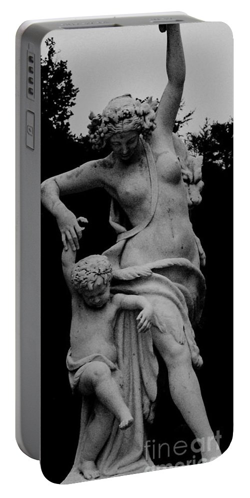 Figurative Portable Battery Charger featuring the painting Woman Statue by Eric Schiabor