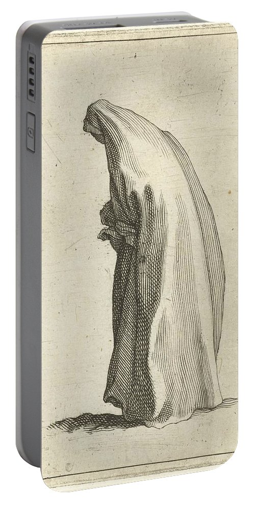 Woman With Long Veil Portable Battery Charger featuring the painting Woman With Long Veil by MotionAge Designs