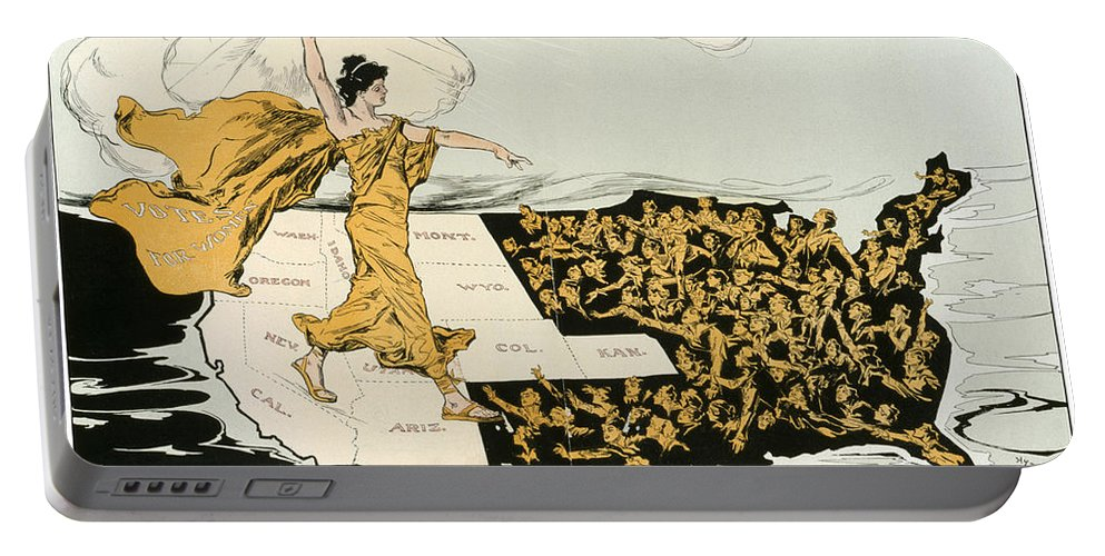 1915 Portable Battery Charger featuring the photograph Womens Suffrage, 1915 by Granger