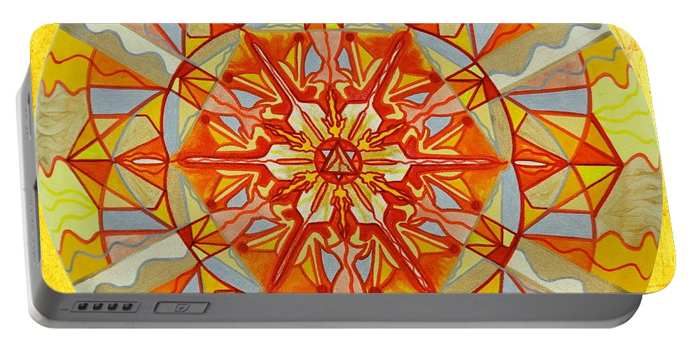 Vibration Portable Battery Charger featuring the painting Wonder by Teal Eye Print Store