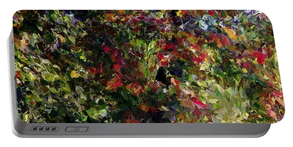 Fine Art Portable Battery Charger featuring the digital art Wonder Tree Detail 1 by David Lane
