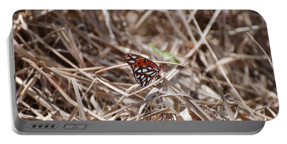 Butterfly Portable Battery Charger featuring the photograph Wooden Butterfly by Rob Hans