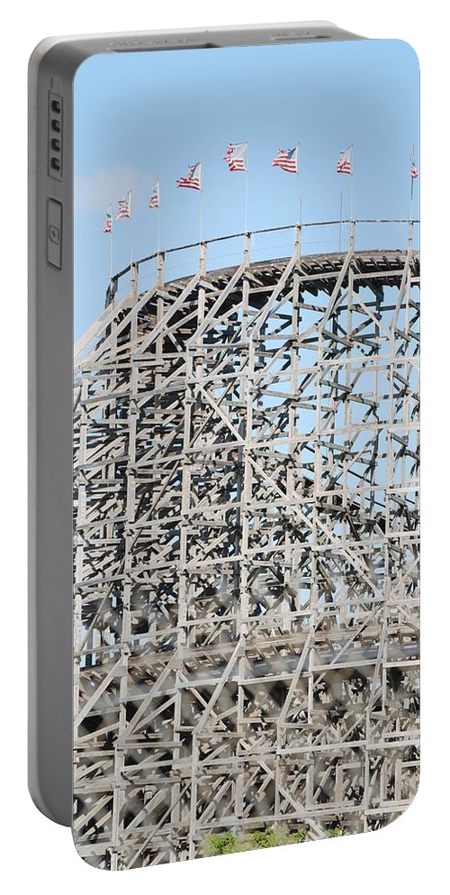 Pop Art Portable Battery Charger featuring the photograph Wooden Coaster by Rob Hans