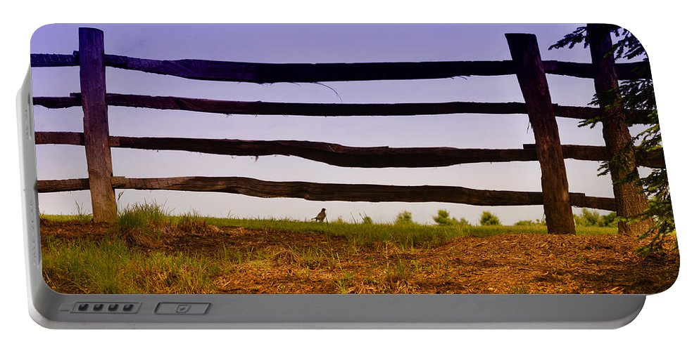 Mt. Vernon Portable Battery Charger featuring the photograph Wooden Fence by Bill Cannon