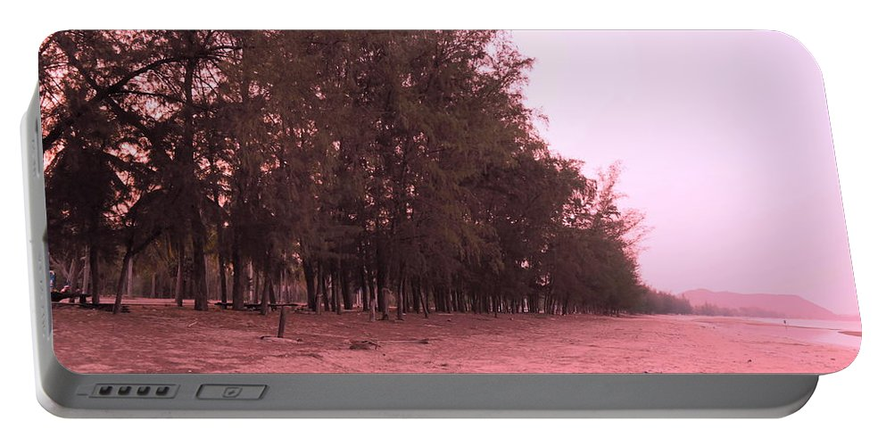 Landscape Portable Battery Charger featuring the photograph Woodlands At The Beach by Pusita Gibbs