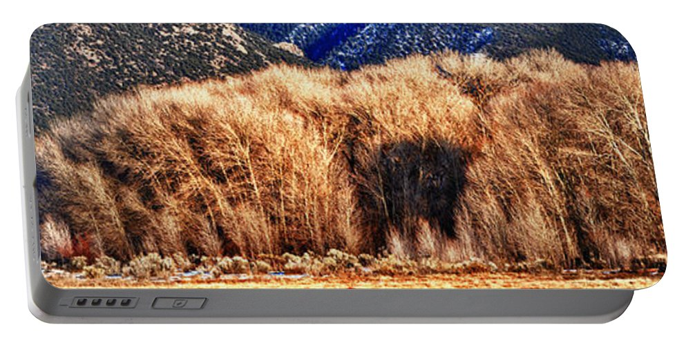 Colorado Naure Portable Battery Charger featuring the photograph Woods by OLena Art Lena Owens