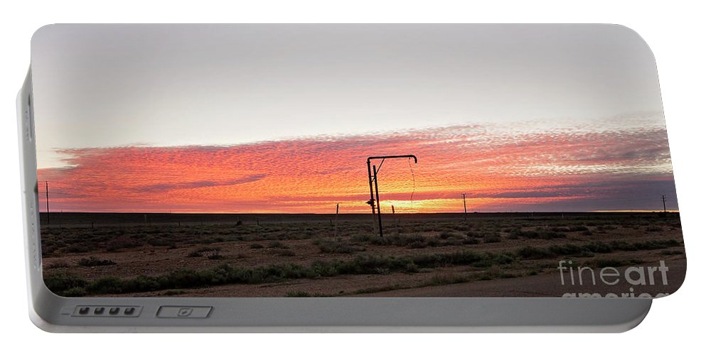 Woomera Portable Battery Charger featuring the photograph Woomera Sunset by Linda Lees