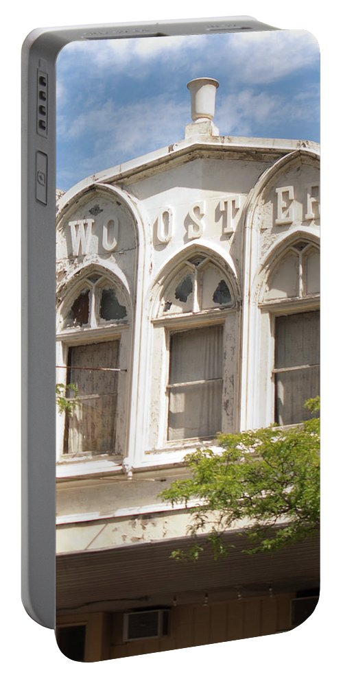 Wooster Portable Battery Charger featuring the photograph Wooster Building by Diane Schuler