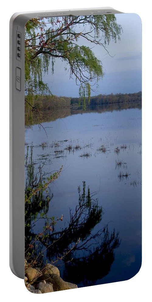 Sunrise Portable Battery Charger featuring the photograph Worden's Pond 3 by Steven Natanson