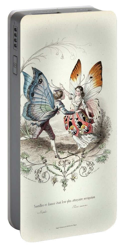 Wordsworth Greece Scenic And History Portable Battery Charger featuring the painting Wordsworth by MotionAge Designs