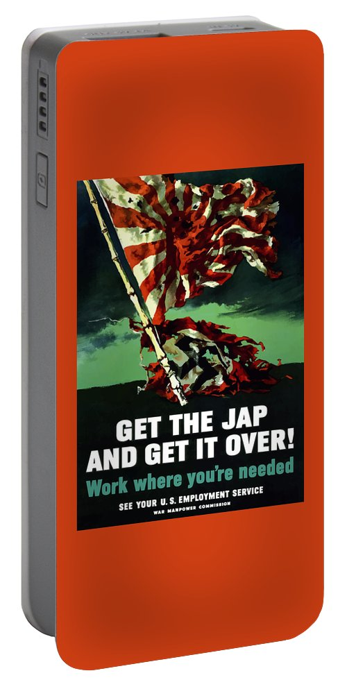 World War Ii Portable Battery Charger featuring the painting Work Where You're Needed -- Ww2 by War Is Hell Store