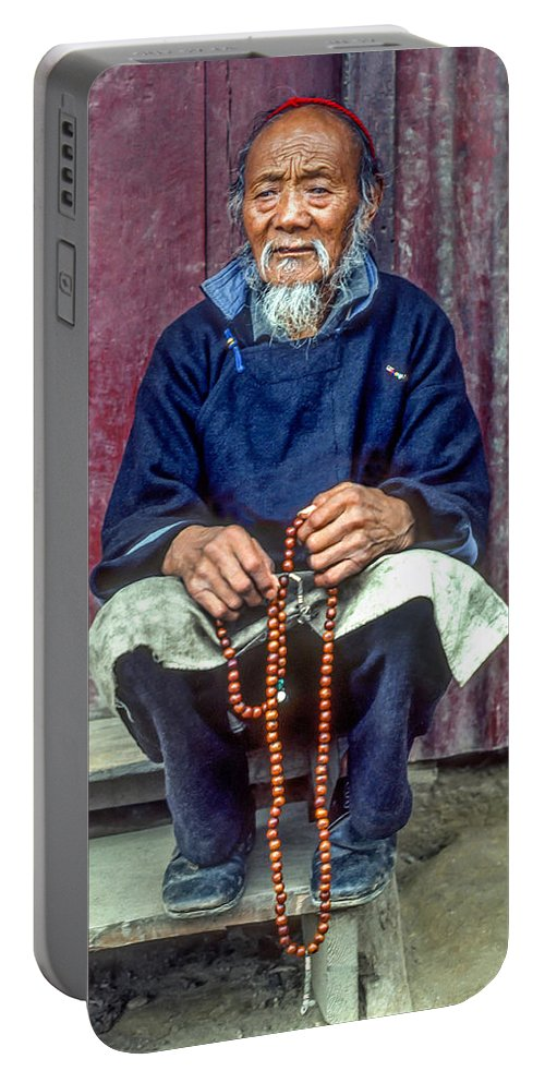 Tibetan Portable Battery Charger featuring the photograph Working Hands by Steve Harrington