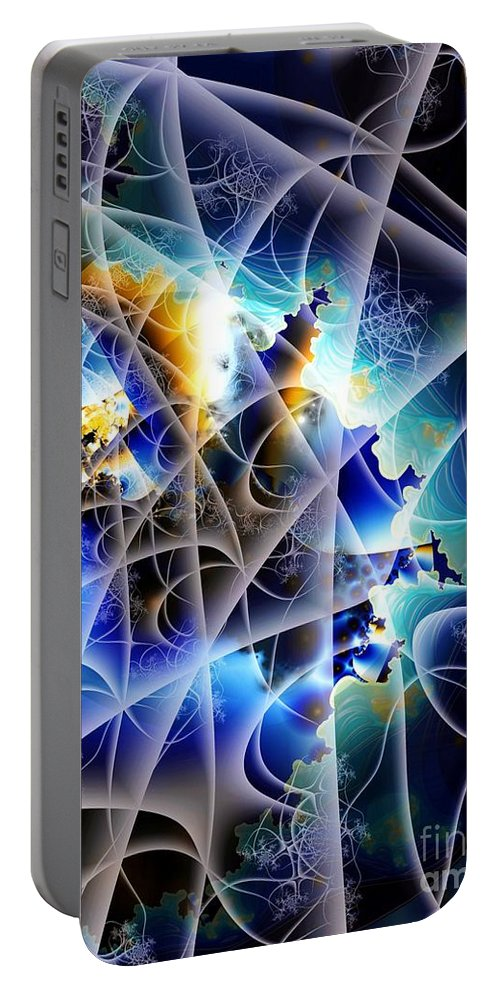 Portable Battery Charger featuring the digital art World Awash by Ron Bissett