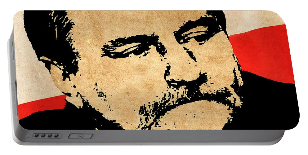 Lech Walesa Portable Battery Charger featuring the photograph World Leaders 12 by Andrew Fare