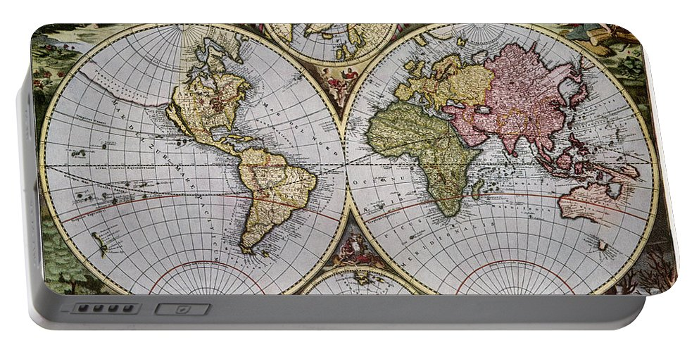 1690 Portable Battery Charger featuring the photograph World Map, C1690 by Granger