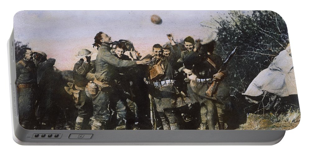 1918 Portable Battery Charger featuring the photograph World War I: Armistice by Granger