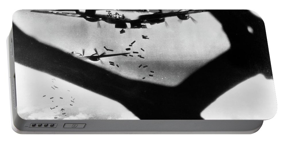1945 Portable Battery Charger featuring the photograph World War II B-29 1945 by Granger