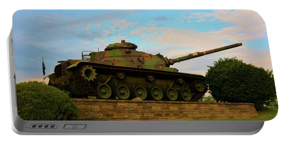 Weapons Portable Battery Charger featuring the photograph World War Two Tank by Richard Jenkins