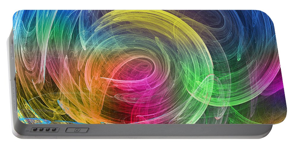 Colourful Portable Battery Charger featuring the photograph Wormhole by Mark Blauhoefer