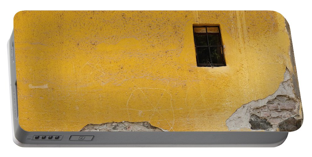 Szentendre Portable Battery Charger featuring the photograph Worn Wall by Rae Tucker