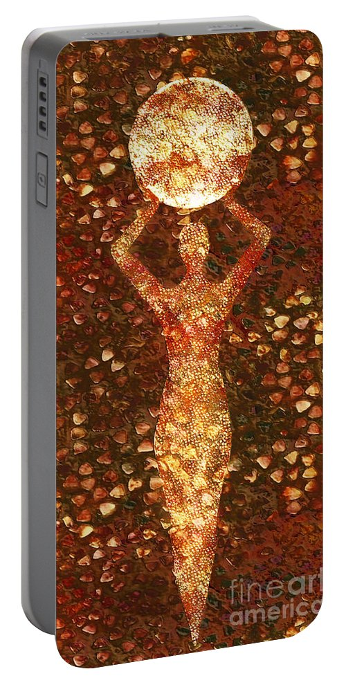 Photodream Portable Battery Charger featuring the digital art Worth by Jacky Gerritsen