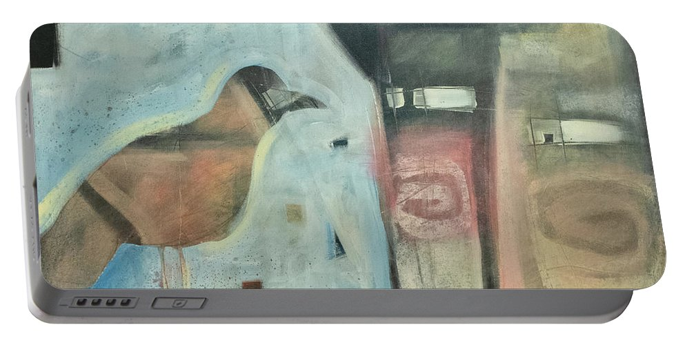 Man Portable Battery Charger featuring the painting Worth Two... by Tim Nyberg
