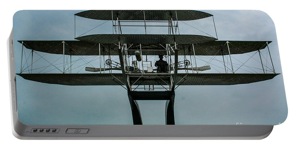 Wright Flyer Memorial Portable Battery Charger featuring the photograph Wright Flyer Memorial Dayton by Tommy Anderson