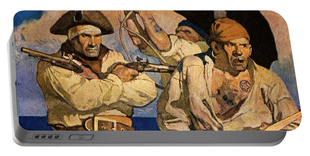 18th Century Portable Battery Charger featuring the photograph Wyeth: Treasure Island by Granger