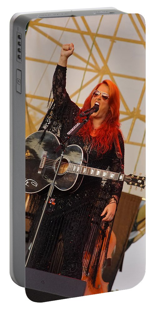 Wynona Portable Battery Charger featuring the photograph Wynona With Attitude by Mick Anderson