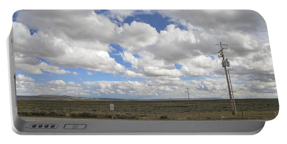 Wyoming Portable Battery Charger featuring the photograph Wyoming Pet Area by Erik Burg
