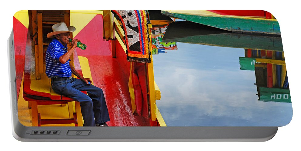 Skip Hunt Portable Battery Charger featuring the photograph Xochimilco by Skip Hunt