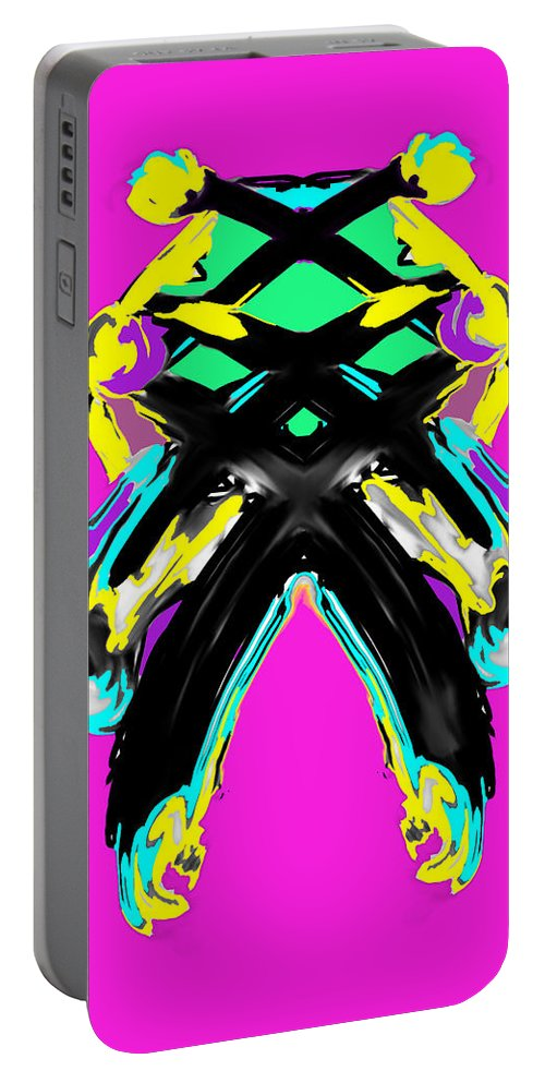 Digital Portable Battery Charger featuring the digital art XX by Artist Sha