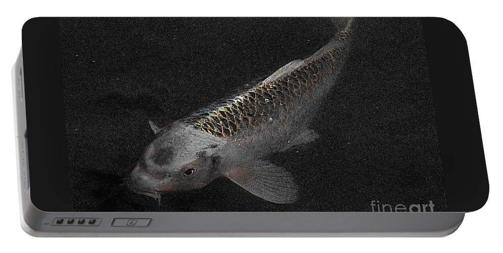 Koi Portable Battery Charger featuring the photograph Yang by September Stone
