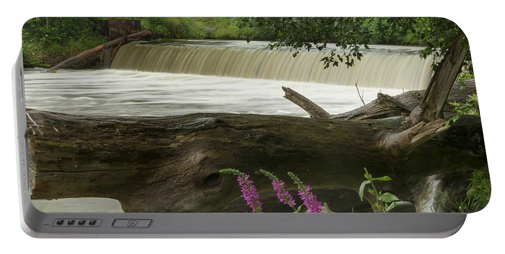 Landscape Portable Battery Charger featuring the photograph Yates Dam by Michael Peychich