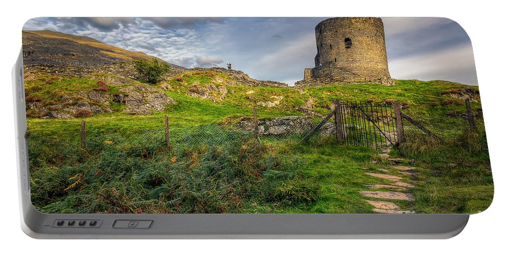 Castle Portable Battery Charger featuring the photograph Ye Olde Path by Adrian Evans