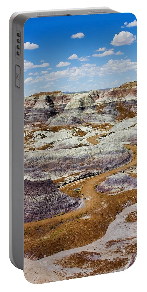 Painted Desert Portable Battery Charger featuring the photograph Yea Though I Walk by Skip Hunt