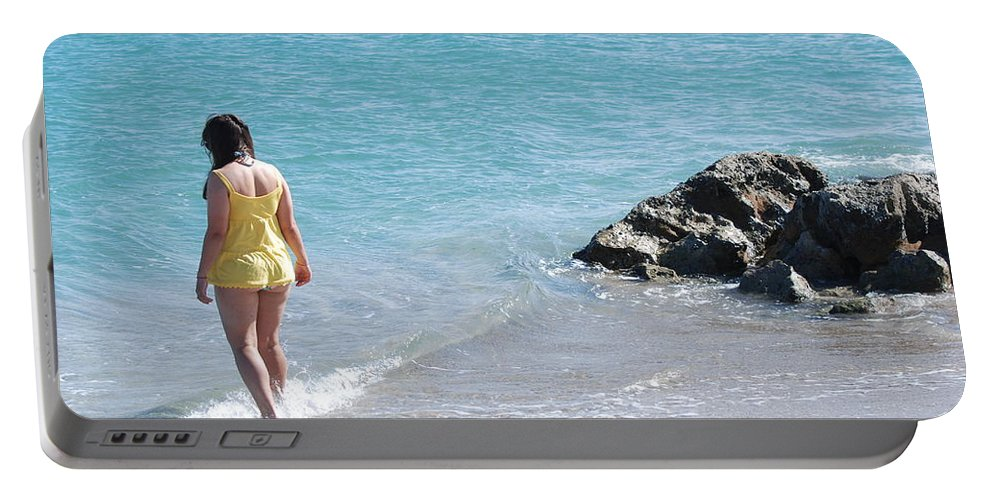 Sea Scape Portable Battery Charger featuring the photograph Yellow And Blue by Rob Hans